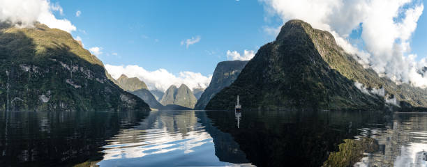 Doubtful sounds New Zealand stock photo