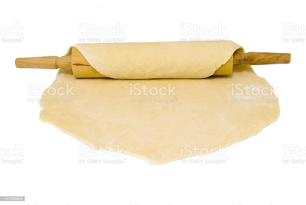 dough and rolling pin royalty-free stock photo