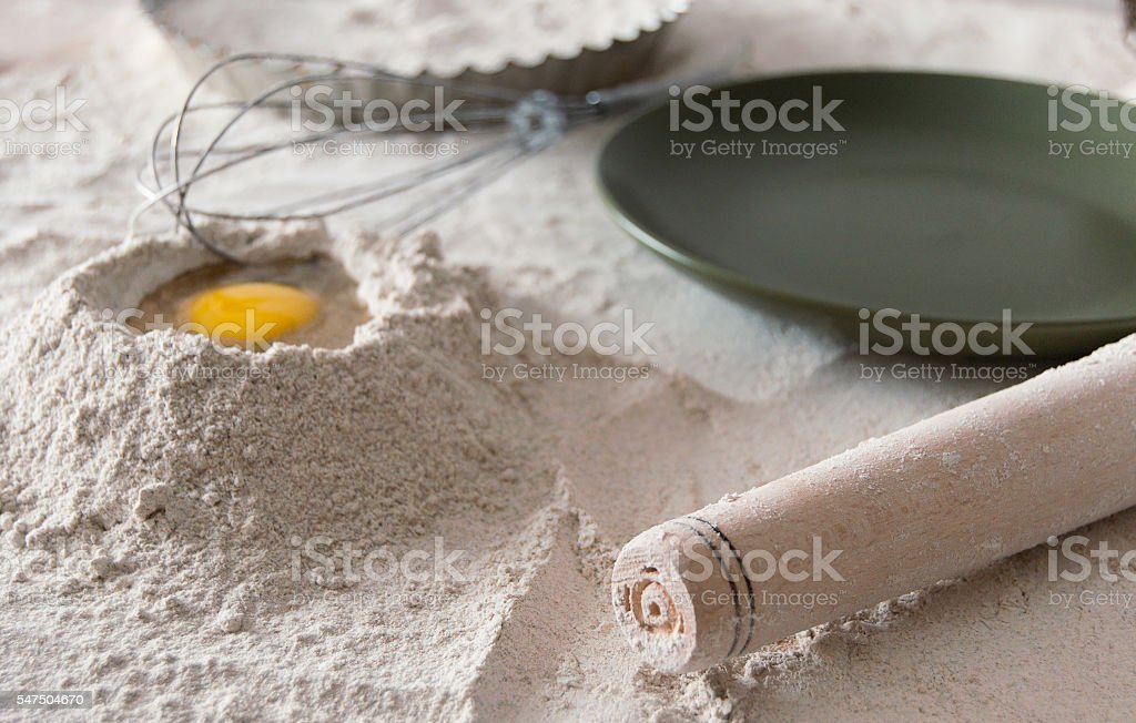 dough composition for pies stock photo