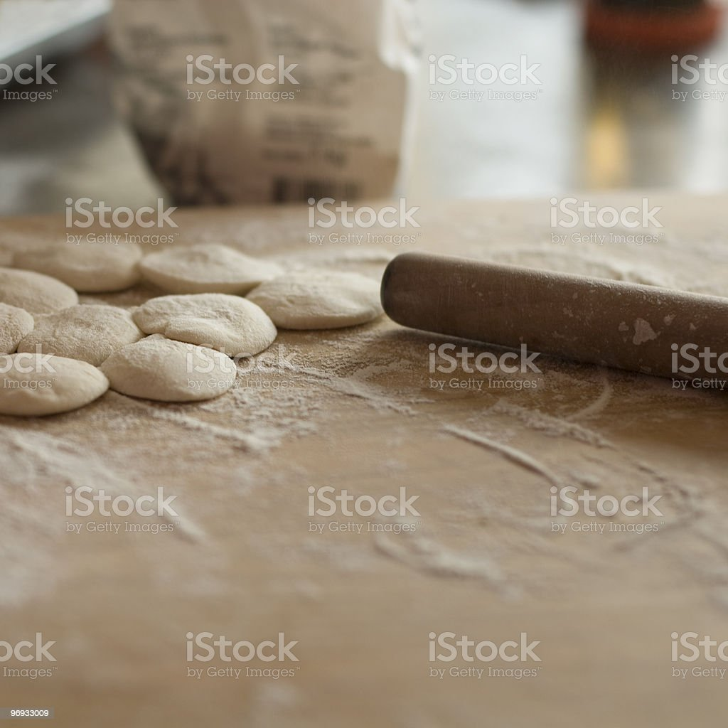 Dough for jiaozi royalty-free stock photo