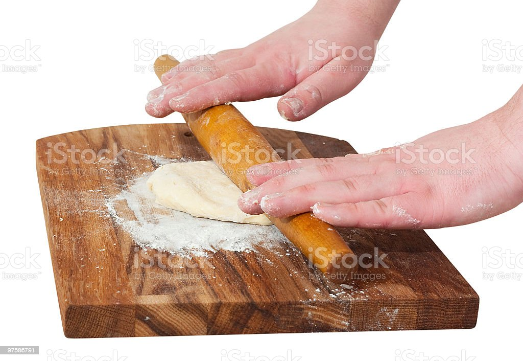 Dough on the board royalty-free stock photo