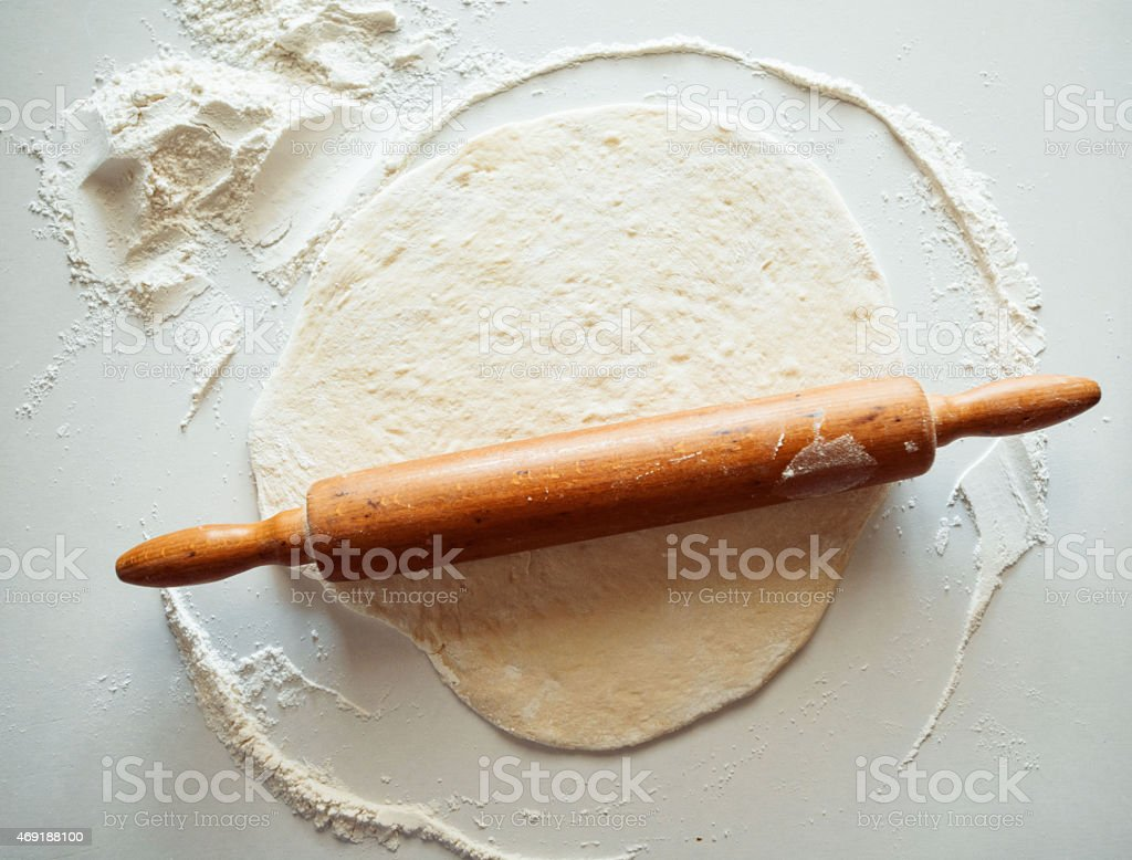 dough on the table stock photo
