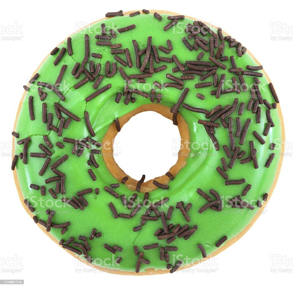 doughnut apple green - donut mit Schokostreuseln royalty-free stock photo