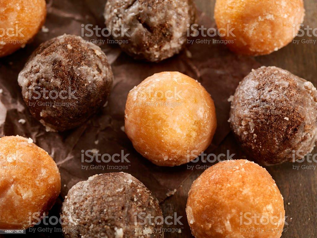 Doughnut holes stock photo