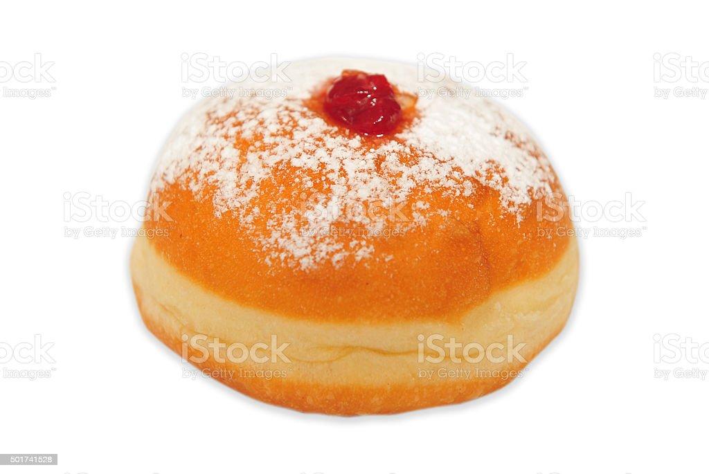 Doughnut on white background stock photo