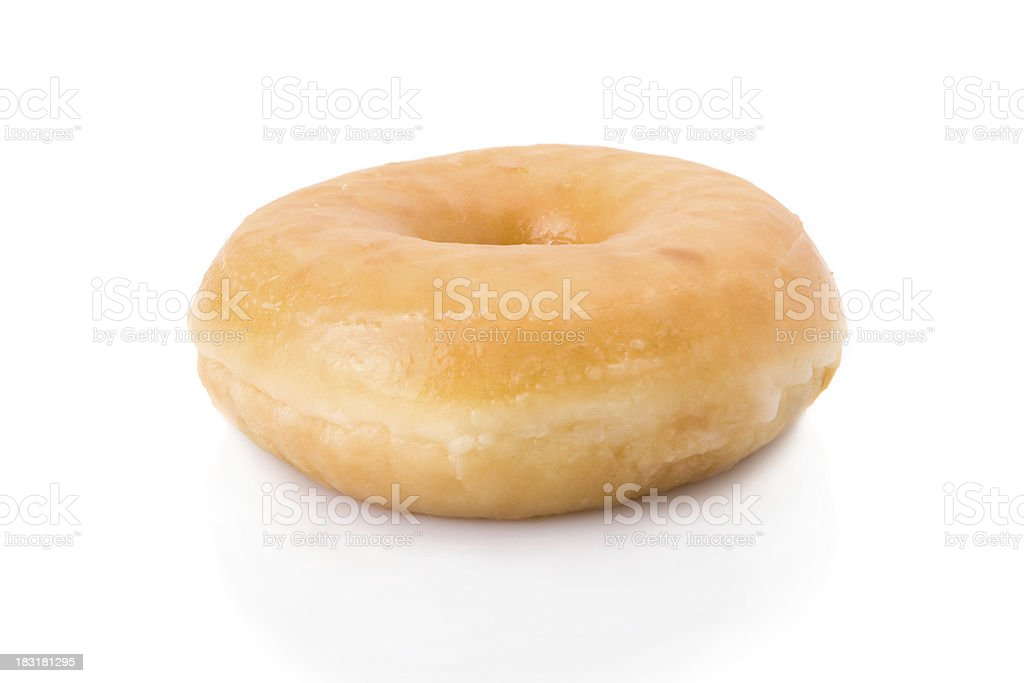 doughnut or donut isolated on white stock photo