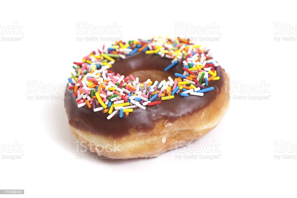 Doughnut (isolated) royalty-free stock photo