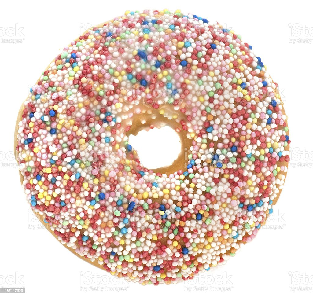 doughnut view from above royalty-free stock photo