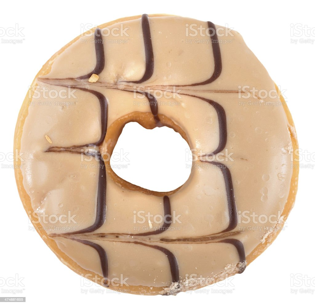 doughnut  with icing donut royalty-free stock photo
