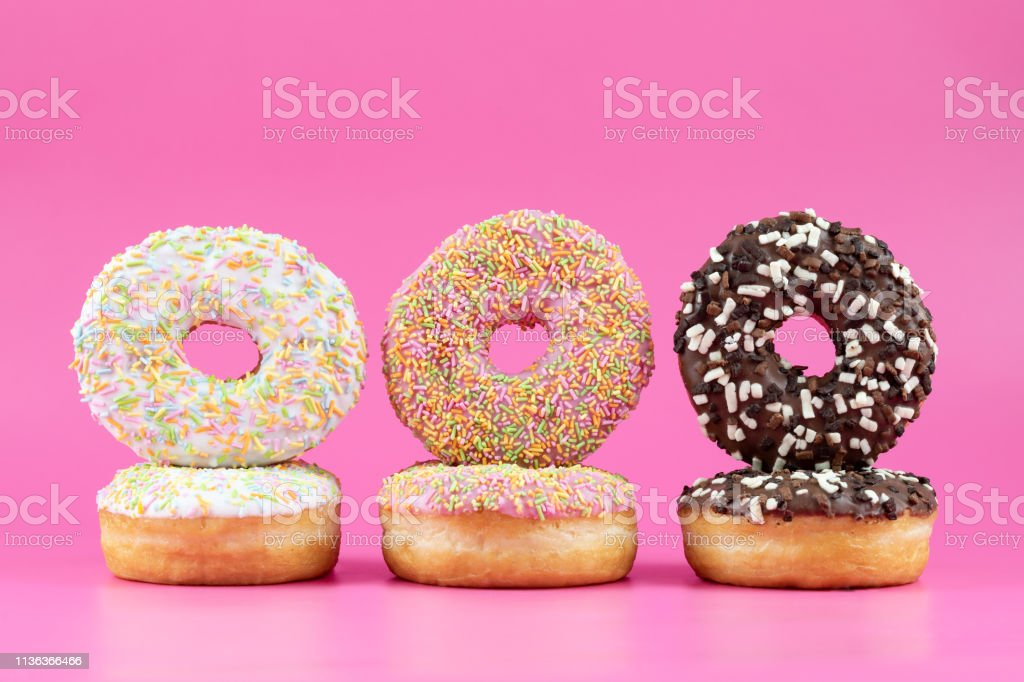 Doughnuts and Sprinkles stock photo