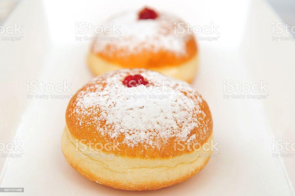 doughnuts in a box stock photo