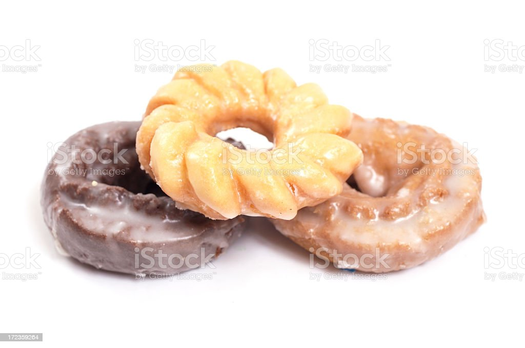 Doughnuts (high key) royalty-free stock photo