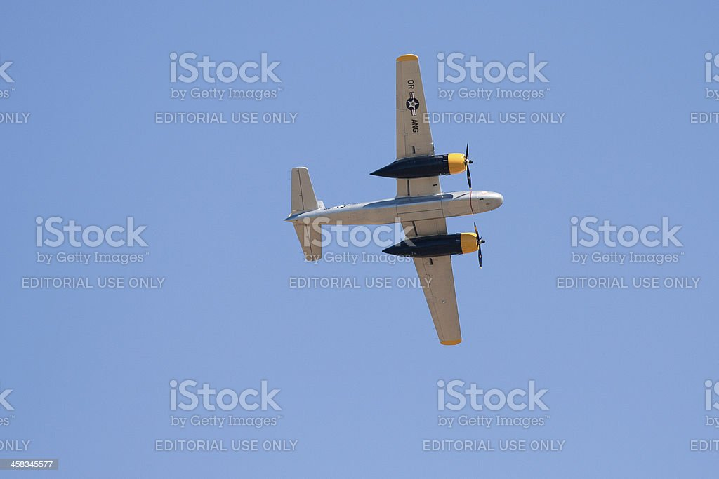 Douglas A-26C AirTanker 'Lead Sled' In Flight royalty-free stock photo