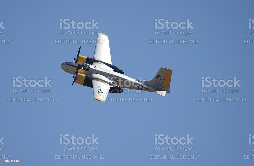 Douglas A-26C AirTanker  'Lead Sled' royalty-free stock photo