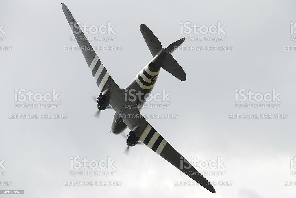 Douglas C47 Dakota aircraft stock photo