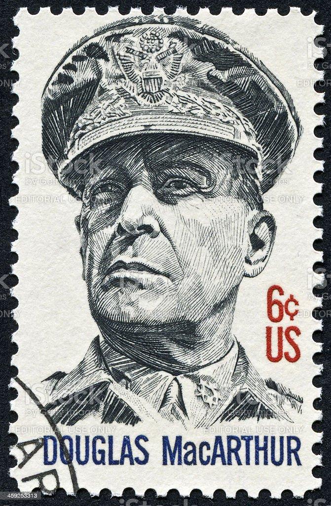 Douglas MacArthur Stamp stock photo