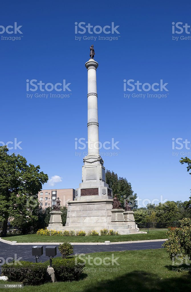 Douglas Memorial in Chicago royalty-free stock photo