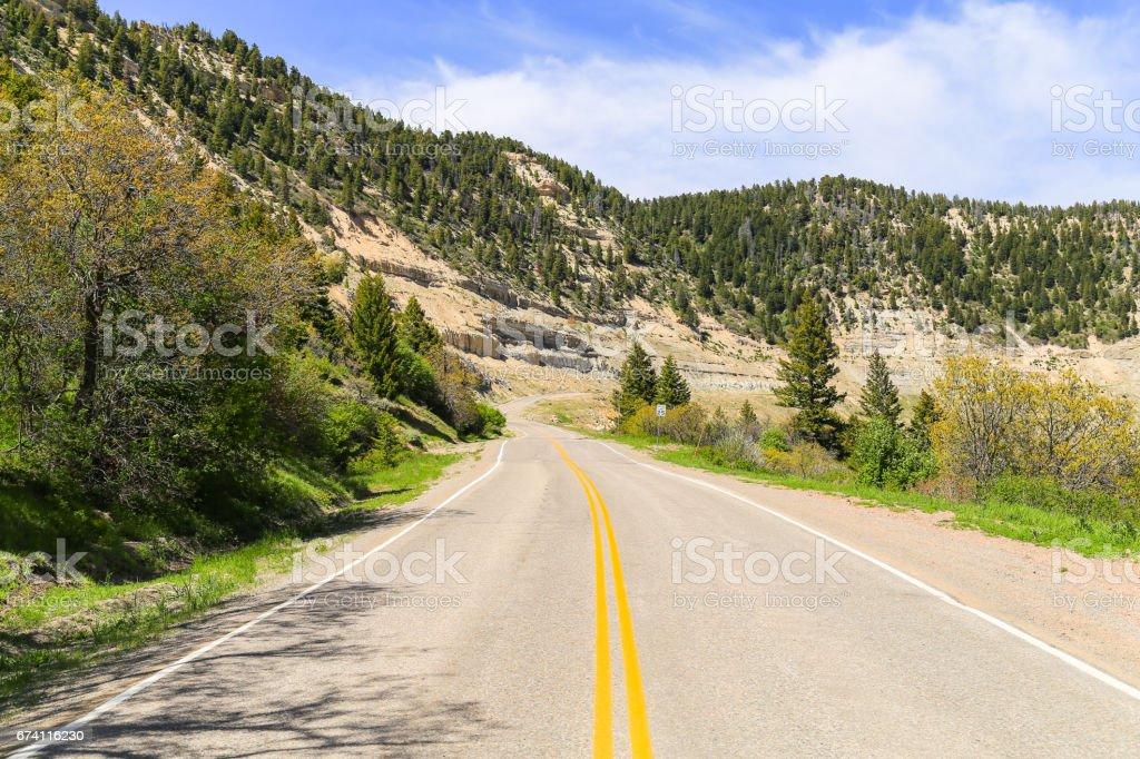 Douglas Pass Road royalty-free stock photo