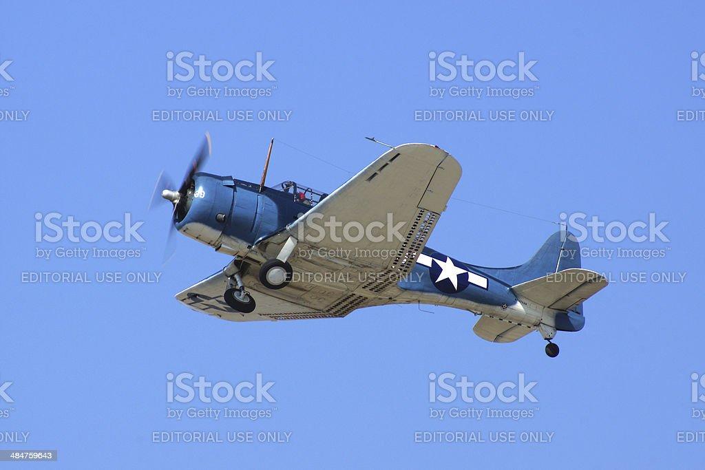 Douglas Sbd5 Dauntless Wwii Dive Bomber Stock Photo