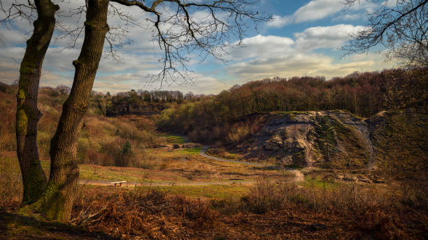 Doulton's Clay Pit Saltwells Local Nature Reserve. stock photo
