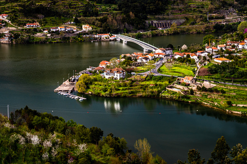 Douro river and Bestança river, Portugal.