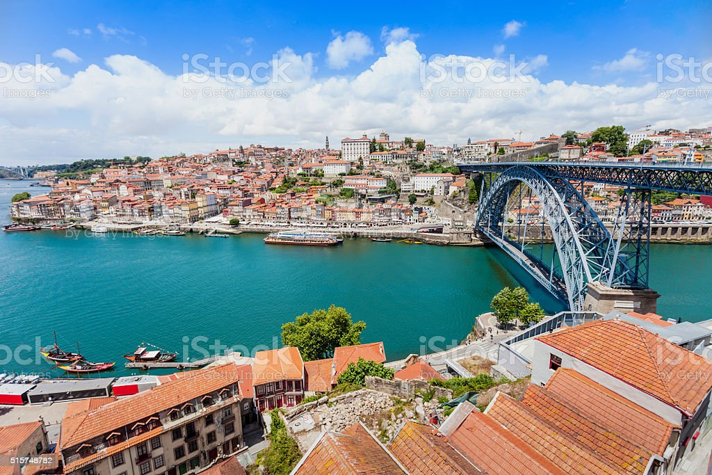 Douro river stock photo