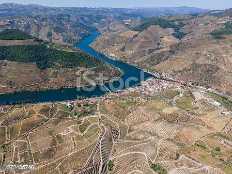 Douro Valley in Pinhão from Miradouro de Casal de Loivos