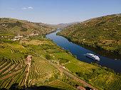 Douro Valley near Mesão Frio with a Turistic Boat