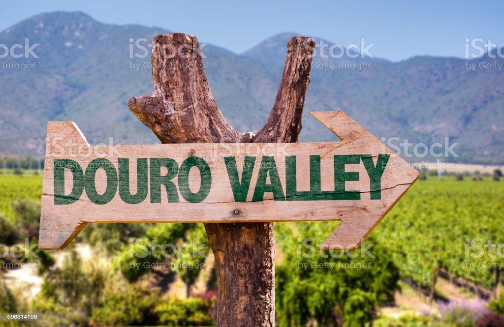 Douro Valley sign stock photo
