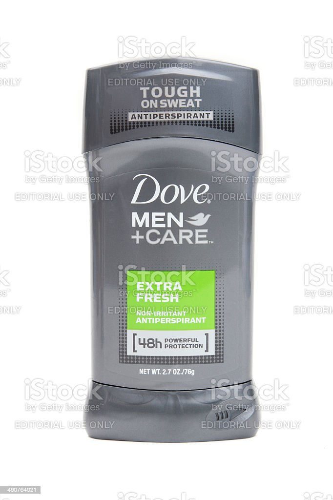 Dove Men's Antiperspirant roll on stick. royalty-free stock photo