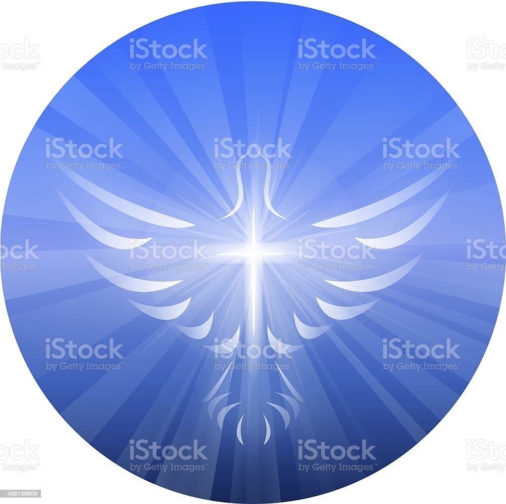Dove Representing God's Holy Spirit stock photo