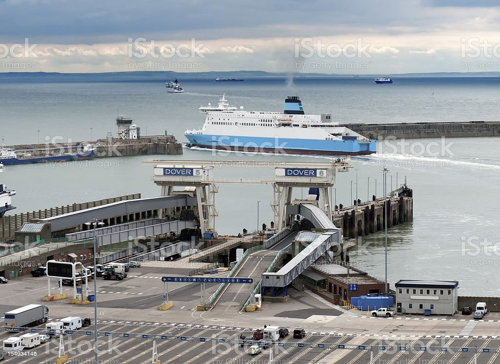 Dover Ferry Port, Kent, UK stock photo