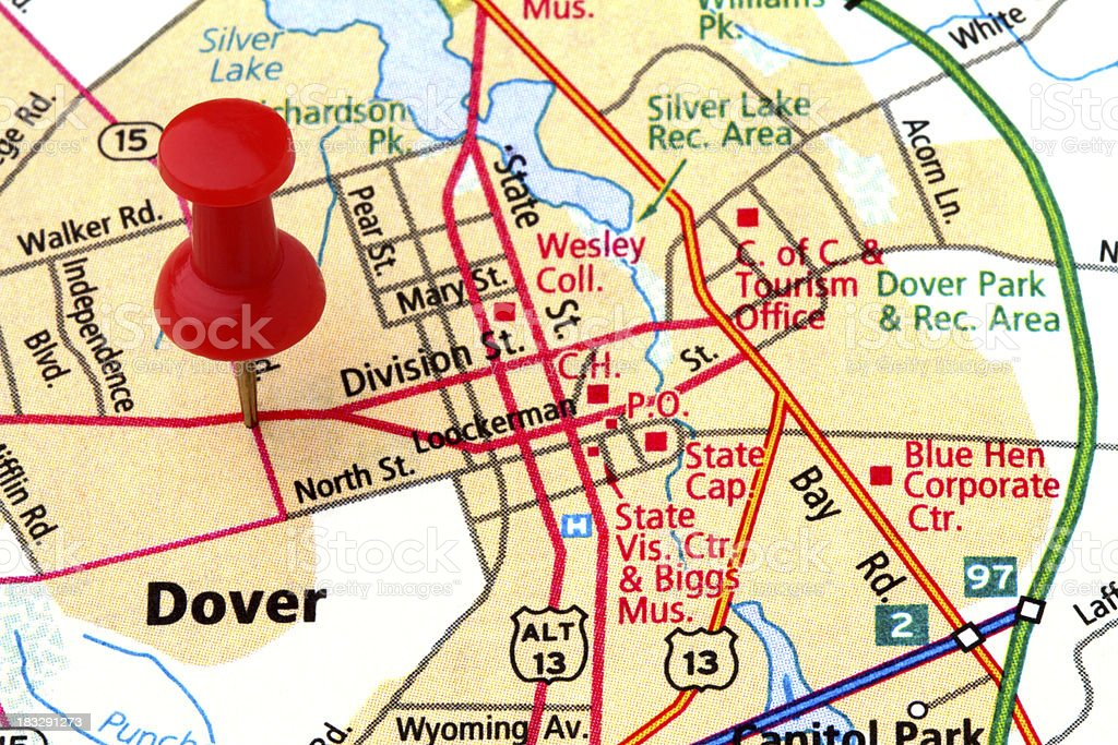 Dover On A Map Stock Photo - Download Image Now - iStock on dover street map, dover nc map, i-95 delaware map, dover uk map, dover beach map, dover road map, dover vt map, dover ny map, dover fl map, dover delaware, delaware bay map, city of dover map, dover cruise terminal map, dover tn map, dover nh map, dover race track map, smyrna delaware street map, dover ohio map, dover nj map, dover mn map,