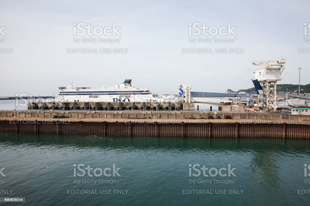 Dover Port Dock Ferry Terminal stock photo