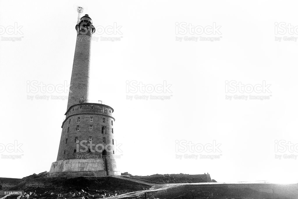 phare des roches Douvres stock photo