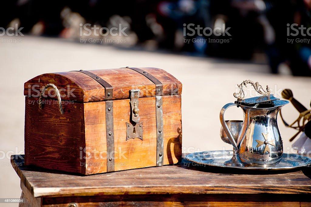 Dower chest stock photo