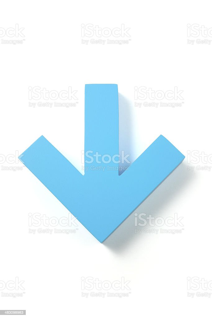 Down Arrow stock photo