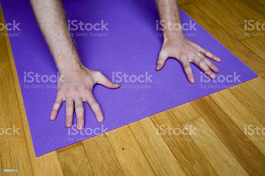 Down Dog Hands royalty-free stock photo