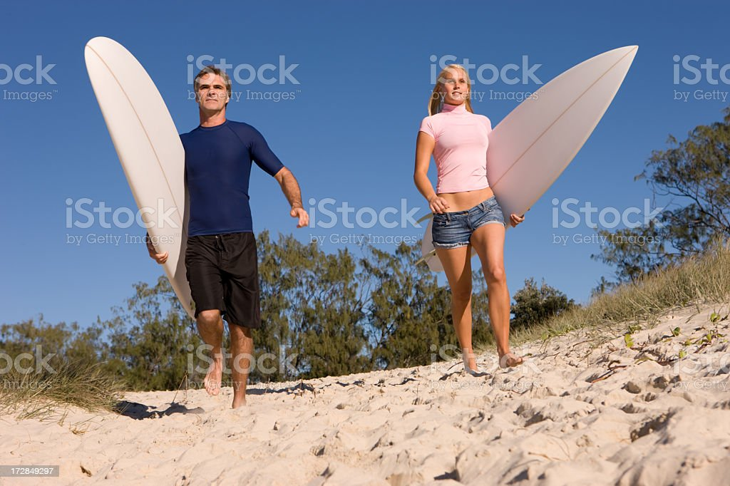 Down for a Surf royalty-free stock photo