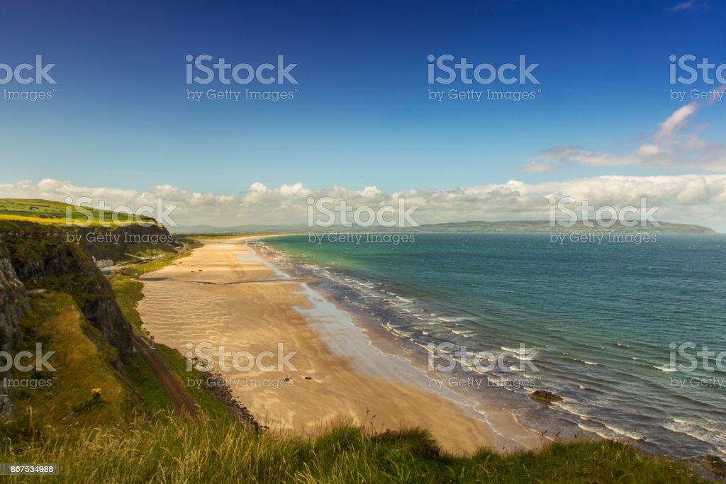 down hill beach stock photo