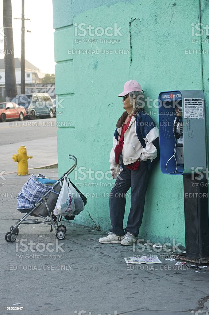 down on the corner royalty-free stock photo