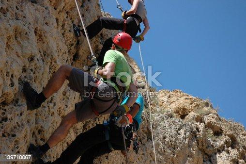 abseiling down a cliff, Malta
