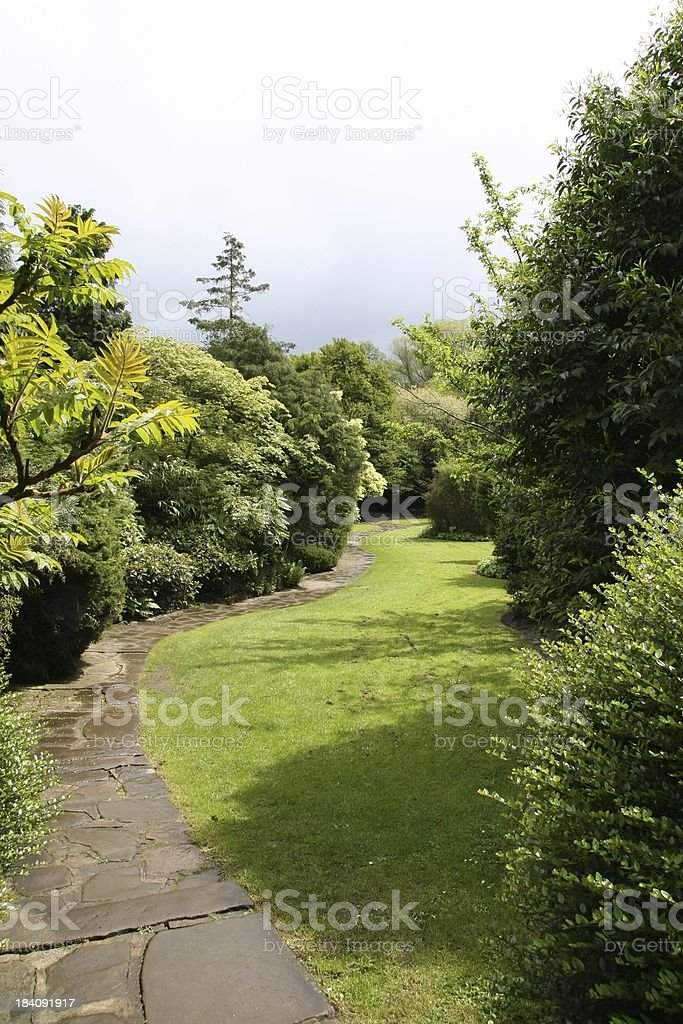 Down the Garden Path royalty-free stock photo