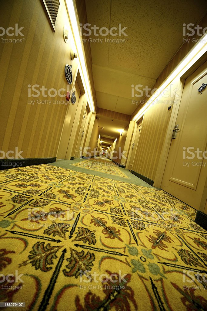 Down the Hall royalty-free stock photo