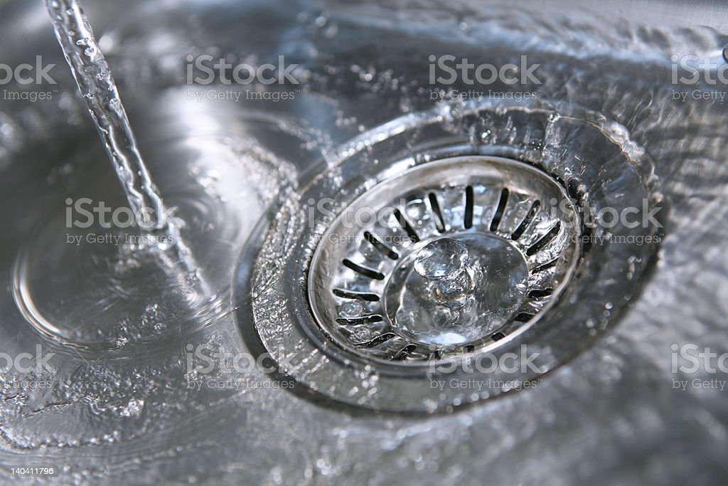 Down the Plughole royalty-free stock photo