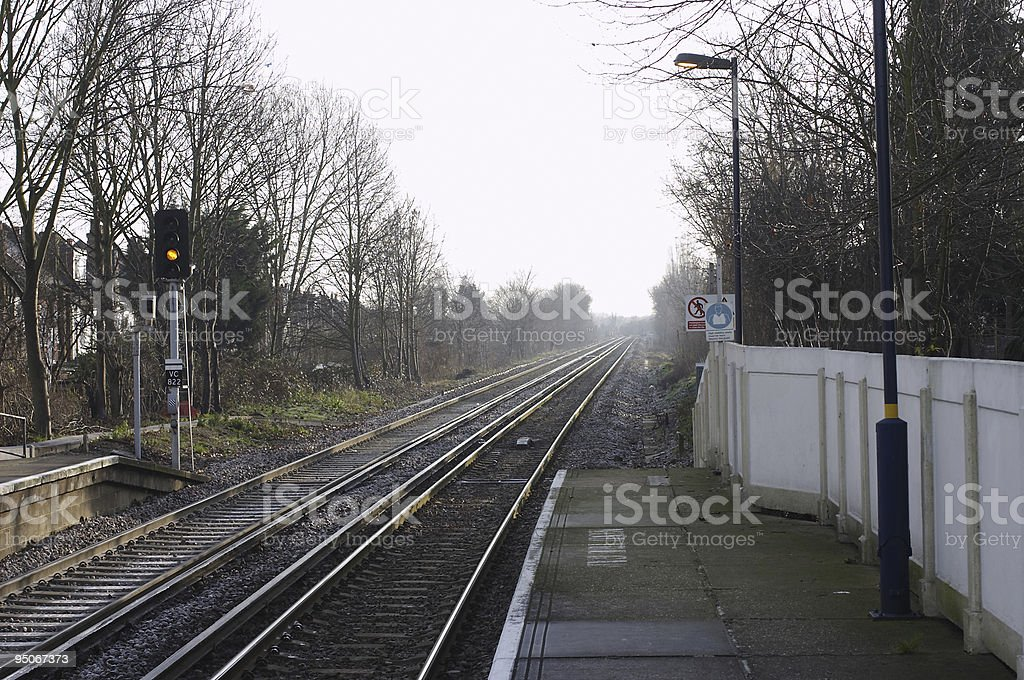 Down the railway line from Tooting stock photo