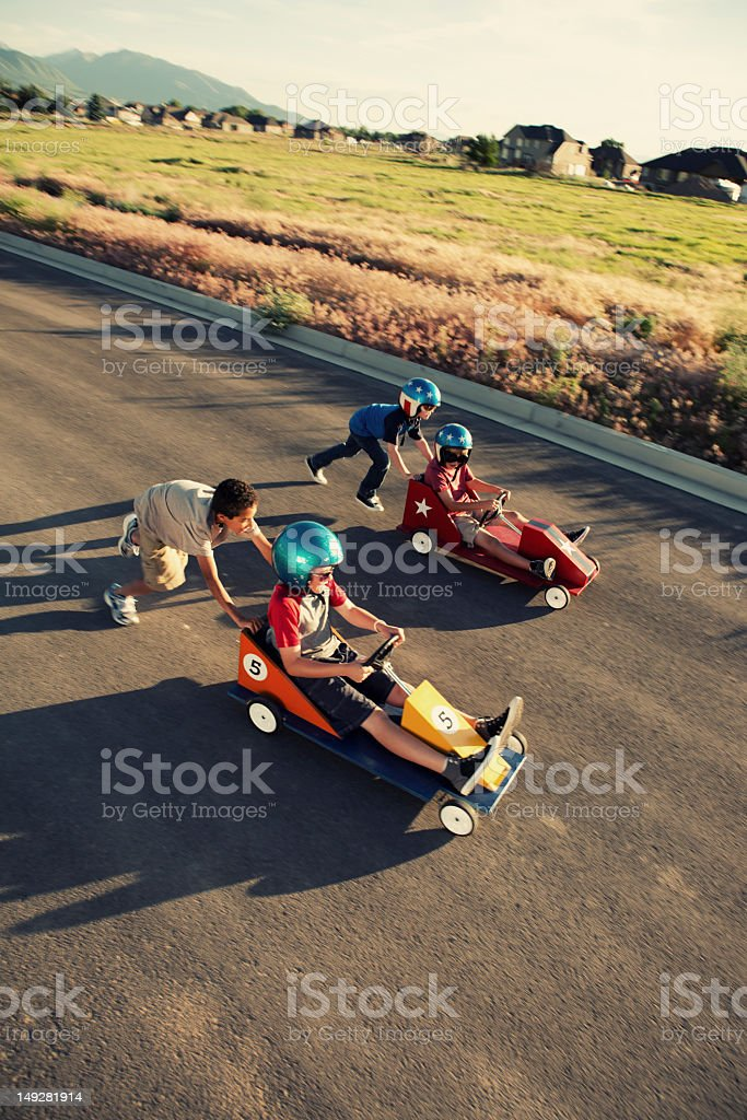Down The Stretch - Royalty-free 10-11 Years Stock Photo