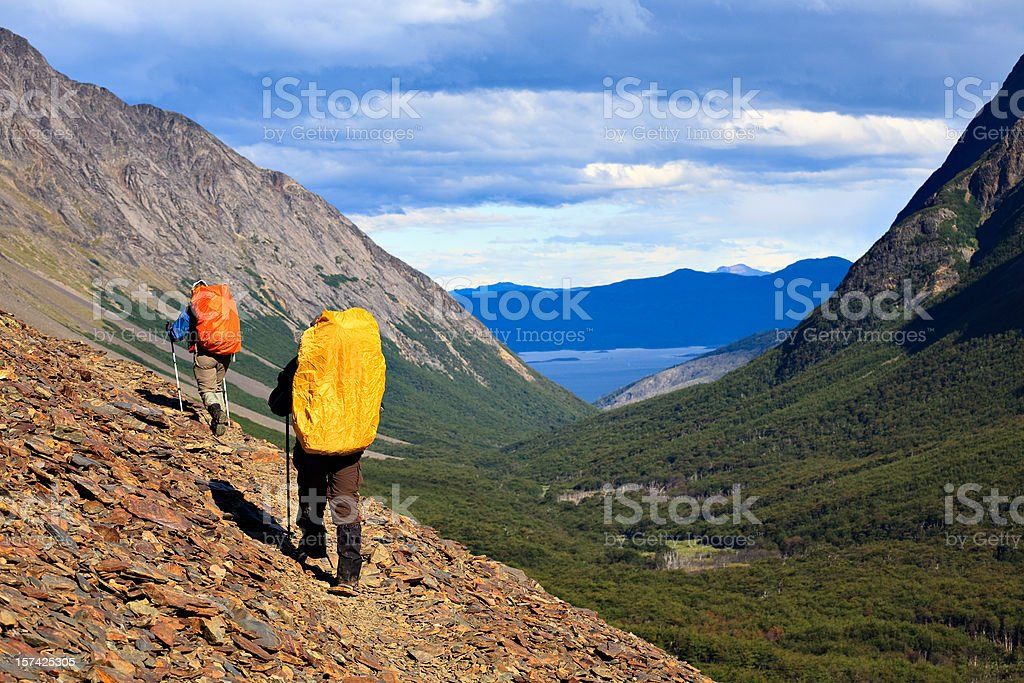 Down the Trail royalty-free stock photo