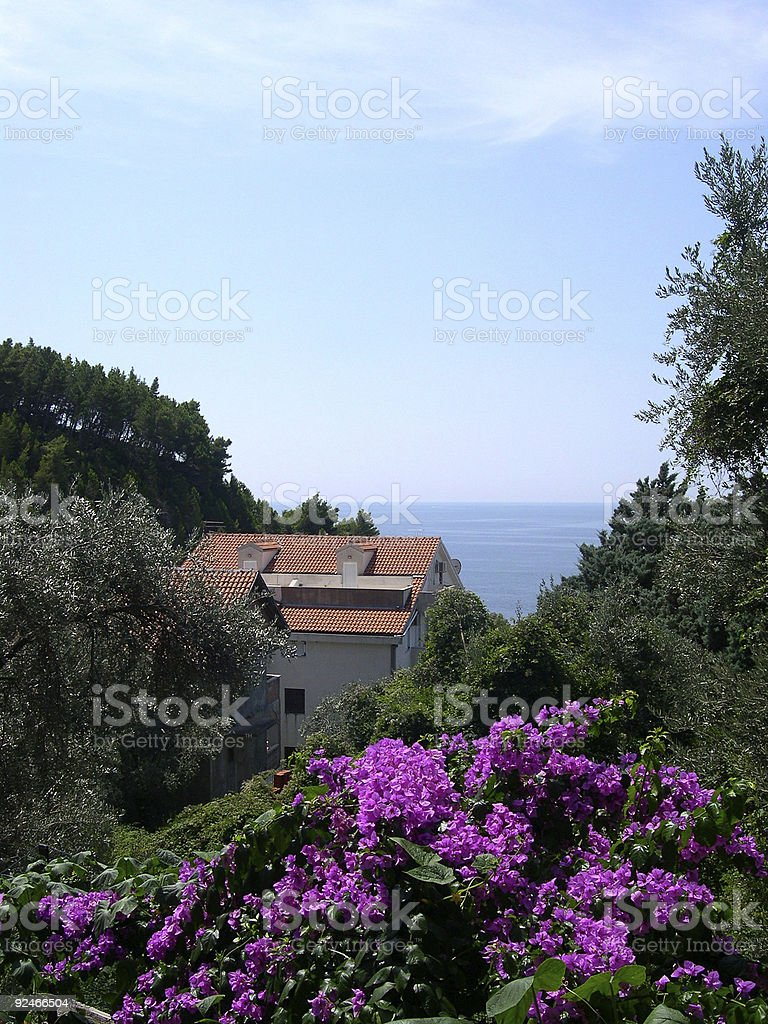 Down to the beach in Montenegro royalty-free stock photo