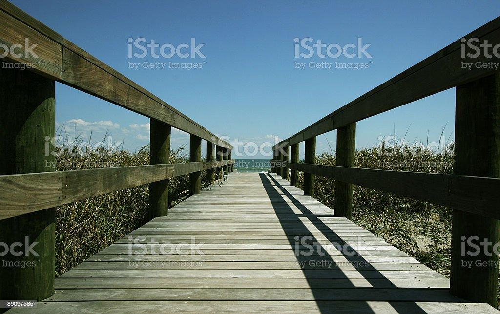 Вниз на пляж Стоковые фото Стоковая фотография